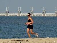 jogging nad morzem